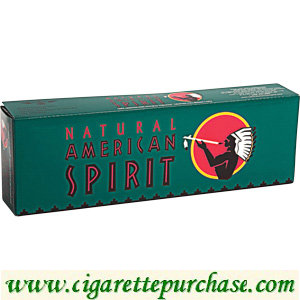 Discount American Spirit Cigarettes Menthol Full Bodied Dark Green Box