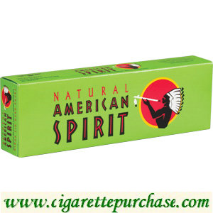 Discount Natural Spirit Cigarettes Menthol Mellow Taste Green Box