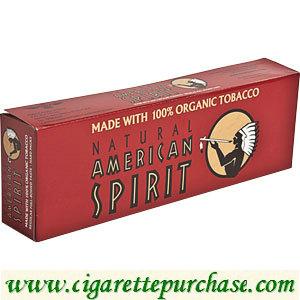 Discount American Spirit Cigarettes Organic Full-Bodied Taste Maroon Box