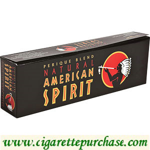 Discount American Spirit Cigarettes Perique Rich Robust Taste Black Box