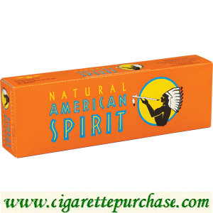 Discount American Spirit Cigarettes Smooth Mellow Taste Orange Box