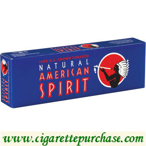 Discount American Spirit Cigarettes US Grown Full Bodied Dark Blue Box