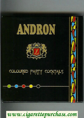 Andron cigarettes Coloured Party Coctails USA