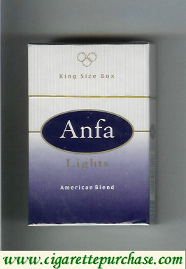 Anfa Cigarettes American Blend / Lights Morocco