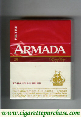 Armada lights cigarettes hard box