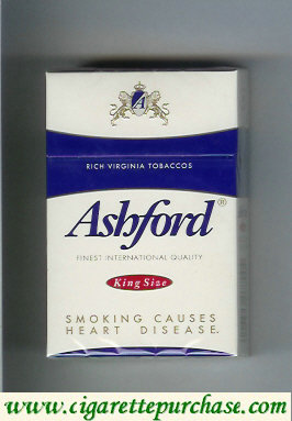 Discount Ashford king size cigarettes