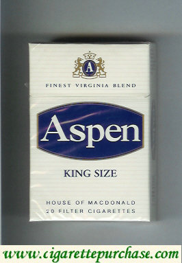 Aspen king size cigarettes