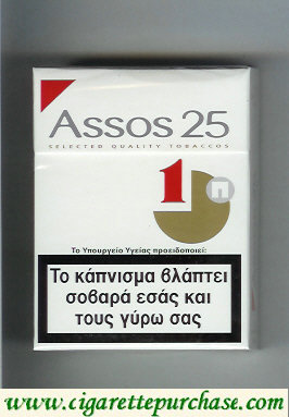 Assos 25 cigarettes white and red