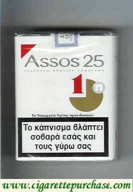 Assos 25 cigarettes soft box white and red