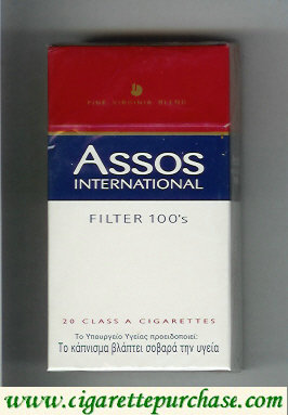 Assos International Filter 100s cigarettes