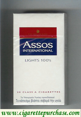 Assos International Lights 100s cigarettes