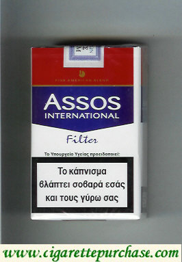 Assos International Filter cigarettes Fine American Blend soft box