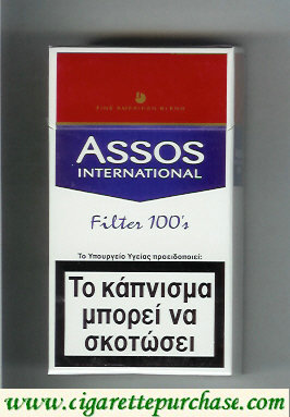 Discount Assos International Filter 100s cigarettes Fine American Blend