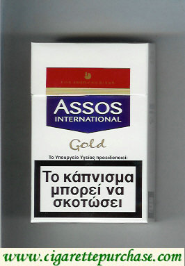 Discount Assos International Gold cigarettes Fine American Blend