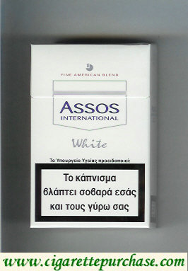 Assos International White cigarettes Fine American Blend