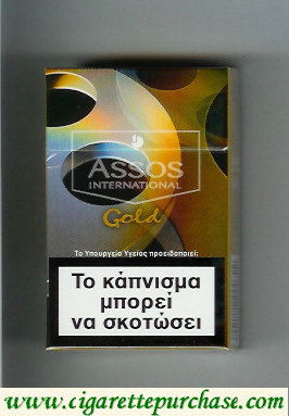 Assos International Gold cigarettes collection version