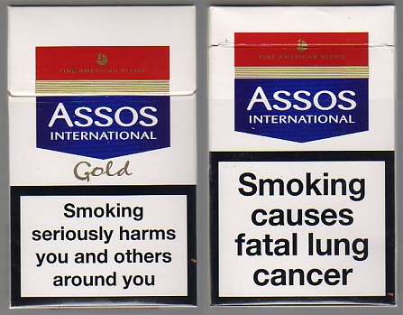 Assos International Gold cigarettes