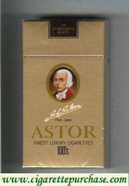 Astor 100s Cigarettes Finest Luxury 1763-1848