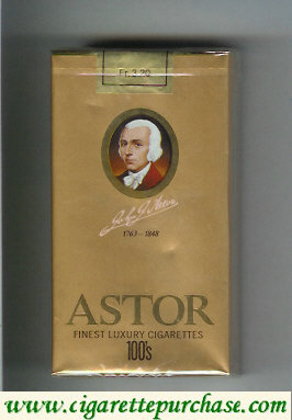 Astor 100s Finest Luxury Cigarettes 1763-1848 soft box