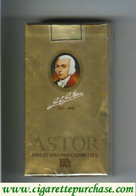 Discount Astor 100s Finest Virginia Cigarettes 1763-1848