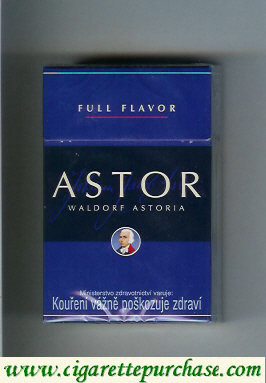 Astor Waldorf Astoria cigarettes Full Flavor