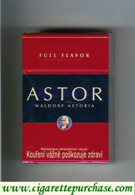 Discount Astor Waldorf Astoria Full Flavor cigarettes red