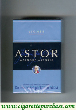 Astor Lights cigarettes Waldorf Astoria