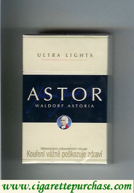 Astor Ultra Lights cigarettes Waldorf Astoria