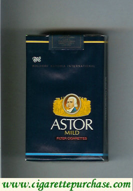 Astor Mild Filter Cigarettes Waldorf Astoria