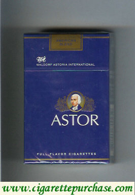 Discount Astor Waldorf Astoria International cigarettes American Blend Full Flavor