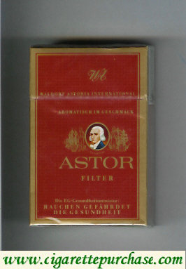 Discount Astor Filter cigarettes Waldorf Astoria International