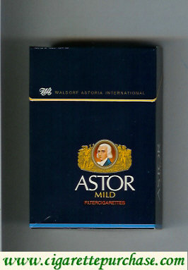 Discount Astor Mild Filter Cigarettes Waldorf Astoria International german version