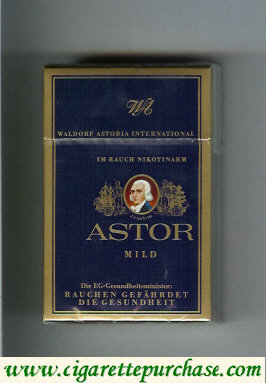 Discount Astor Mild Purple cigarettes Waldorf Astoria International german version