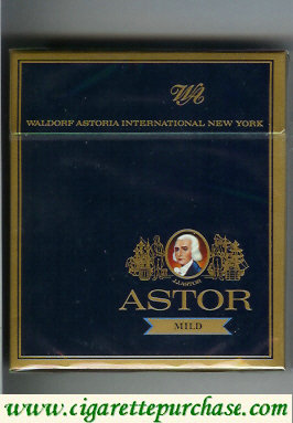 Discount Astor Mild cigarettes Waldorf Astoria International New York
