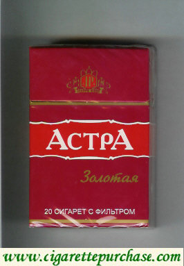 Astra Zolotaya red cigarettes Russia