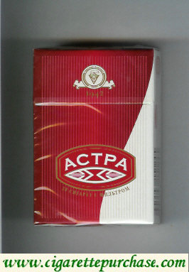 Discount Astra 1942 cigarettes red white