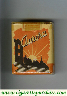 Aurora with sun cigarettes Italy