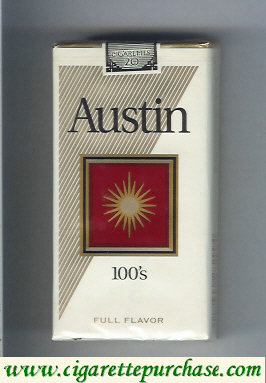 Discount Austin 100s Full Flavor cigarettes with square