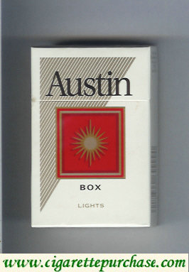 Austin Lights cigarettes with square