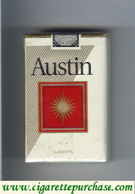 Austin Lights cigarettes with square soft box