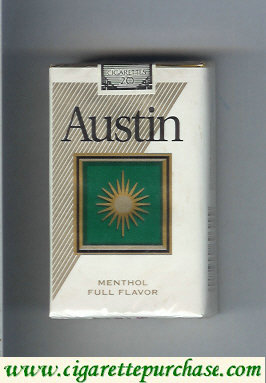 Austin Menthol Full Flavor cigarettes with square