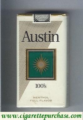 Discount Austin 100s Menthol cigarettes Full Flavor