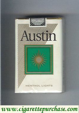 Discount Austin Menthol Lights cigarettes