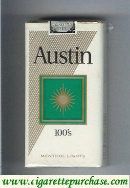 Discount Austin 100s Menthol Lights cigarettes