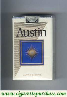 Discount Austin Ultra Lights cigarettes with square  USA