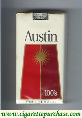 Discount Austin 100s cigarettes Full Flavor red