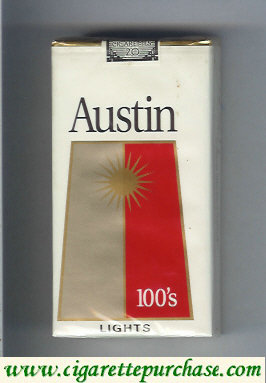 Discount Austin 100s Lights cigarettes with trapezium