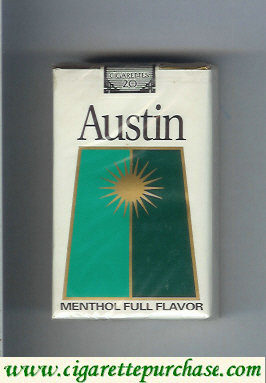 Discount Austin Menthol Full Flavor cigarettes with trapezium