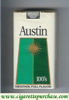 Discount Austin 100s Menthol Full Flavor cigarettes with trapezium