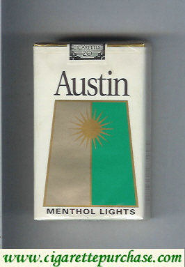 Discount Austin Menthol Lights cigarettes with trapezium